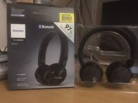 Philips SHB8750NC Wireless Noise Cancelling Headphones - Compact, Folding , On-Ear Soft Cushions