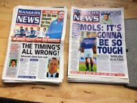 250 Rangers News magazines for sale from 1991-2000 £150