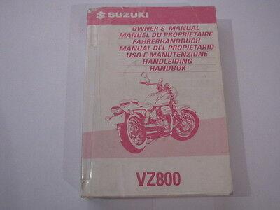 SUZUKI VZ800 1998 OWNERS MANUAL HANDLEIDING MANUEL DU PROPRIETAIRE