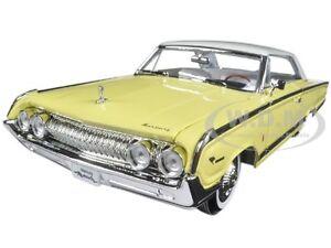 1964 MERCURY MARAUDER YELLOW 1/18 DIECAST CAR MODEL BY ROAD SIGNATURE 92568