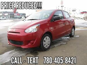 2015 Mitsubishi Mirage ES -  DRIVE HOME TODAY! Only $71 Bi-Wkly