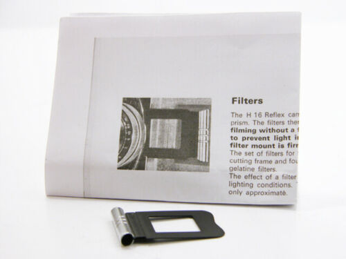 Bolex RX Lens FILTER HOLDER for 16mm Movie Camera With Instructions