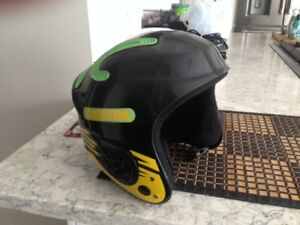 snowboard boots, helmet and goggles
