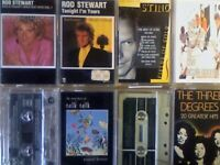 A-Z 2x ROD STEWART STING STYLE COUNCIL TAKE THAT 10cc TALK TALK 3 DEGREES PRERECORDED CASSETTE TAPES