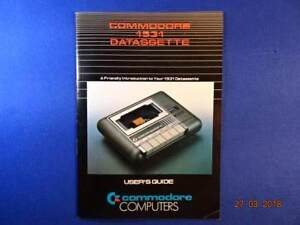 1984 VINTAGE COMMODORE 1531 DATASSETTE™ USER'S GUIDE