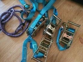 4 x 50mm 6 Meter Ratchet Tie Down Straps 2 tons Claw Lorry Lashing