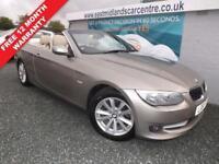 2011 61 BMW 3 SERIES 2.0 320D SE 2D 181 BHP HARDTOP CONVERTIBLE DIESEL BRONZE DI