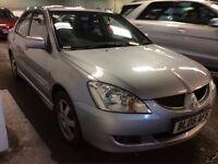 2005 MITSUBISHI LANCER 1.6 EQUIPPE PETROL MANUAL SALOON SILVER GREAT DRIVE CHEAP CAR NO ACCORD CIVIC