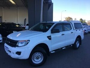 2011 Ford Ranger PX XL 2.2 (4x4) Cool White 6 Speed Automatic Crewcab Beckenham Gosnells Area Preview