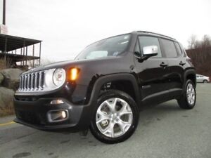 2017 Jeep RENEGADE LIMITED (ONLY 14500 KMS! 4X4, LEATHER, DUAL R