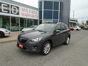 2015 Mazda CX-5 **HID LIGHTS & LEATHER!** LOADED GT TECH AWD
