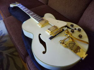"New Ibanez ""White Falcon"" Artcore Rock/Jazz Guitar."