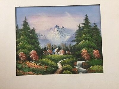 Original Oil  Landscape Painting Signed By Artist  W  Amion