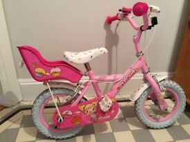 "Apollo Cupcake Pink Bike 12"" Ages 3-5 with brakes & stabilisers"