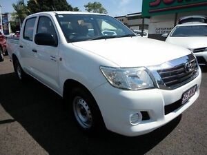 2013 Toyota Hilux GGN15R MY12 SR White 5 Speed Automatic Dual Cab Pick-up Mount Gravatt Brisbane South East Preview
