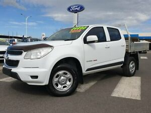 2015 Holden Colorado RG MY16 LS Crew Cab White 6 Speed Manual Cab Chassis Kilmore Mitchell Area Preview