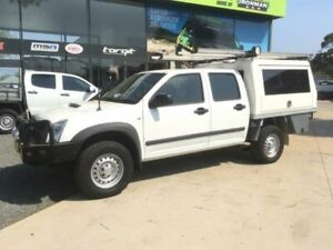 2010 Isuzu D-MAX TF MY10 SX (4x4) White 5 Speed Manual Dual Cab Utility Tuncurry Great Lakes Area Preview