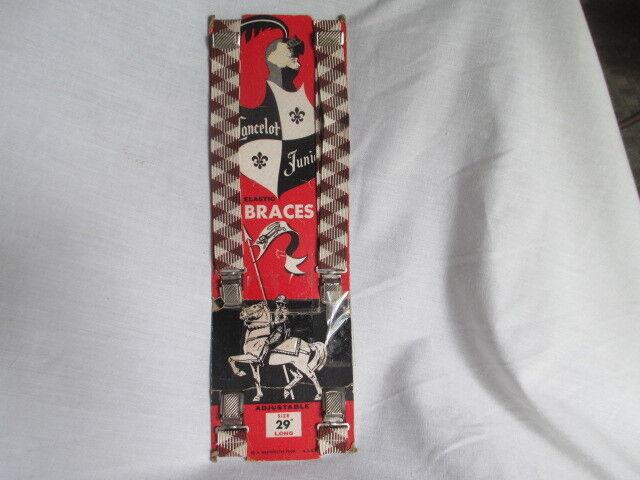 "Original Vintage Lancelot Brace Elastic Suspenders still packages N.O.S. 29""long"