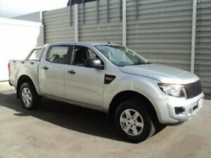 2013 Ford Ranger PX XL 2.2 Hi-Rider (4x2) Silver 6 Speed Automatic Crew Cab Chassis Edwardstown Marion Area Preview