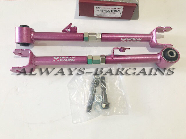 Megan Rear Traction Rod Arms fits Honda Accord 08-12 MRS-HA-0180 2pcs Pink