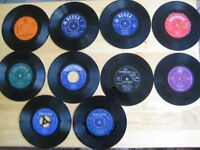 A Selection Of Ten 1960s 7 Inch Vinyl Singles Records By Various Artists £15.00 ono