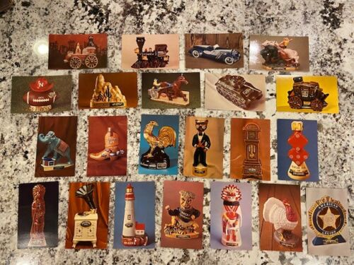 (22) 40 yr old Lot Ezra Brooks Bottle Postcards Collectibles & Mascots! 1960