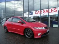 2008 58 HONDA CIVIC 2.0 I-VTEC TYPE-R GT 3D 198 BHP***GUARANTEED FINANCE***PART EX WELCOME***