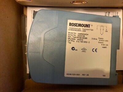 Rosemount Temperature Transmitter 248r Ana Q4