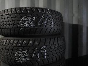 225/70 R16 WINTER TIRES AND STEEL MULTI FIT RIMS PACKAGE (SET OF 4) - USED USED TOYO APPROX. 85% TREAD