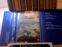 GREAT COMPOSERS AND THEIR MUSIC BACH BRAHMS CHOPIN SCHUBERT BEETHOVEN MOZART RODRIGO CASSETTE TAPES.
