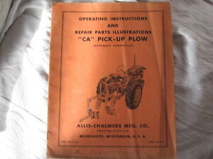 Allice Chalmers CA tractor , and CA  accessories manuals (4 pc) Cambridge Kitchener Area image 4