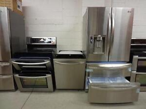 STAINLESS STEEL STOVES & FRIDGES AVAILABLE ALL MAJOR BRANDS  WITH FREE DELIVERY UNTIL SUNDAY