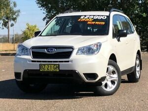 2014 Subaru Forester S4 MY14 2.5i Lineartronic AWD White 6 Speed Constant Variable Wagon Hillvue Tamworth City Preview