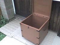 Lockable Wooden Storage Box