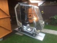 Heavy Duty Quingo Vitesse Mobility Scooter With All Weather Canopy Nearly New Fully Adjustable