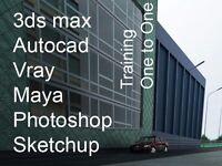 Tutor 1 to 1 Autocad, Rhino, 3ds max, Vectorworks, Photoshop, Revit, Photoshop, Architecture Vray