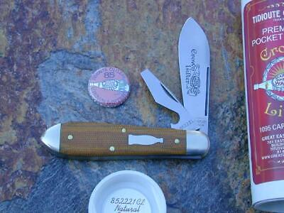GREAT EASTERN GEC TIDIOUTE NATURAL MICARTA CROWN LIFTER KNIFE RARE MIT 85