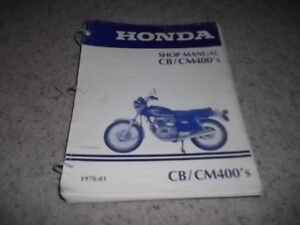 1978 - 1981  CB400 and CM400  Shop Manual