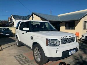 2013 Land Rover Discovery 4 MY13 3.0 TDV6 White 8 Speed Automatic Wagon Mount Hawthorn Vincent Area Preview