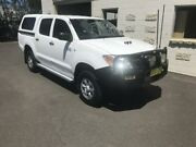 2008 Toyota Hilux KUN26R 07 Upgrade SR (4x4) White 5 Speed Manual Dual Cab Pickup Dubbo Dubbo Area Preview