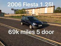 69k miles! £1295 2006 Ford Fiesta 1.25* like corsa clio punto fiesta micra yaris c1 c3 107 polo,
