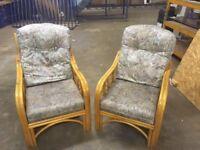 2 x WICKER SEATS