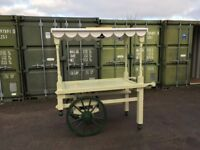 Solid wood hand cart suitable for street trading precincts etc