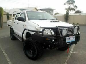 2012 Toyota Hilux KUN26R SR MY12 White Manual Dual Cab Newtown Geelong City Preview