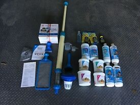 Hot Tub - Swimming Pool - Large Paddling Pool - Cleaning Equipment & Chemicals