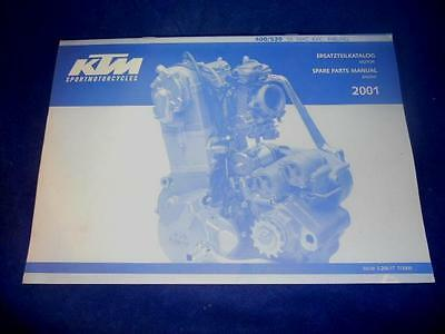 KTM Spare Parts Manual 2001 400 520 SX MXC EXC Racing
