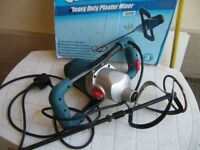 1800w heavy duty soft start plaster mixer very little used- southbourne