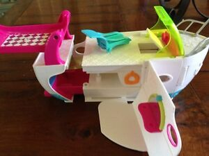 """Polly Pocket Boat Toys Girls Play 10"""" Open Up Design"""