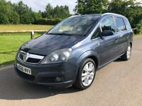 2008 Vauxhall Zafira Design 7 seater mpv PART EX CONSIDERED