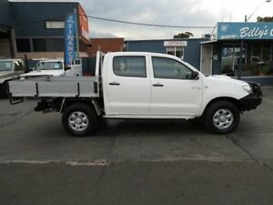 2010 Toyota Hilux KUN26R 09 Upgrade SR (4x4) White 5 Speed Manual Dual C/Chas Condell Park Bankstown Area Preview